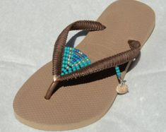Havaianas Wedding Flip Flops Boho Wedding Shoe Decorated