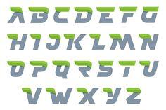 Ecology alphabet with green leaf. by kaer_shop on @creativemarket