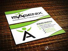 Custom isagenix business card design 2 isagenix businesscards custom isagenix business card design 1 isagenix businesscards marketing colourmoves