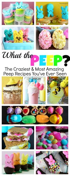 Crazy Peep Recipes and Crafts for Easter - You'll never believe the crazy Peep. - Crazy Peep Recipes and Crafts for Easter – You'll never believe the crazy Peep recipes and craf - Easter Deserts, Easter Treats, Easter Food, Peeps Recipes, Easter Recipes, Egg Recipes, Holiday Treats, Holiday Recipes, Spring Recipes