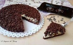 Sbriciolata al cacao con crema di ricotta e cioccolato