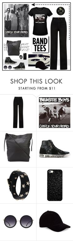 """I'm With the Band: Band T-Shirts"" by likepolyfashion ❤ liked on Polyvore featuring Khaite, Ann Demeulemeester, Yves Saint Laurent, RED Valentino, Alice + Olivia, Le Amonie and bandtees"