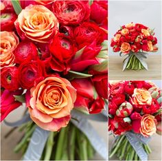 By Appointment Only Design Valentines Day Bouquet 2013 Parrot Tulips, Gum Paste Flowers, Sunset Colors, Orange Wedding, Ranunculus, Red Flowers, Special Day, Wedding Bouquets, Wedding Planner
