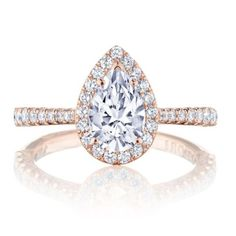 Women's CT Pear Cut Diamond Solitaire Engagement Ring Rose Gold Over Frauen Engagement Ring Guide, Tacori Engagement Rings, Rose Gold Engagement Ring, Engagement Ring Settings, Vintage Engagement Rings, Diamond Wedding Bands, Ring Verlobung, Blue Nile, Diamond Cuts