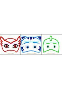 PJ Mask Face Applique Set