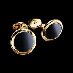 PIAGET ALTIPLANO CUFFLINKS | Cufflinks in 18K rose gold and hematite. | http://luxurysafes.me/blog/ #luxurysafes