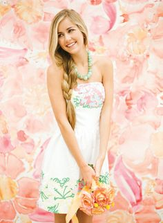 sweet Lilly Pulitzer bride | KT Merry #wedding