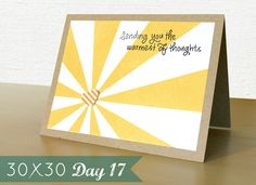 30x30 Day 17---the sunburst is where it is at!!