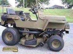 Jeep mower.