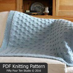 Blanket KNITTING PATTERN / Belleview Blanket / Throw / Afghan
