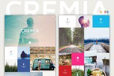 Cremia - One Page Portfolio by AgenceMe on Creative Market