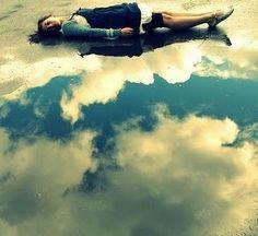 Excuse me while I kiss the sky #puddle