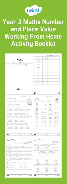A great working from home booklet to help your child practise number and place value. Tags in this resource: Number Place Value, Place Values, Home Activities, Hands On Activities, Year 3 Maths, Math Numbers, Home Learning, Classroom Displays, Numeracy