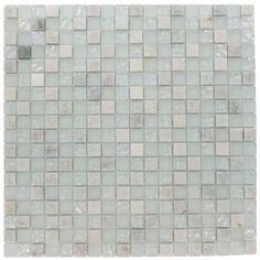 "Seaspray marble/glass blend .5"" mosiac $14.99 /sf"
