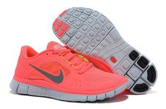 separation shoes 423bc 162d1 Hot Punch Reflective Silver Sol Volt Nike Free Run 3 Women s Shoes