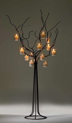 This Candle Lanterns are marvelous at making your home a pleasing place. Candle Decor, Tree Lighting, Decor, Candle Tree, Candle Lanterns, Iron Candle, Candlelight, Candles, Lights