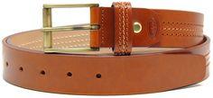 Cintura in pelle Vacchetta con tripla cucitura Cognac | Adpel