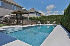 backyard designs – Gardening Ideas, Tips & Techniques Pool Deck Plans, Backyard Plan, Backyard Pool Landscaping, Swimming Pools Backyard, Fire Pit Backyard, Pool Decks, Backyard Ideas, Beach Entry Pool, Rectangular Pool