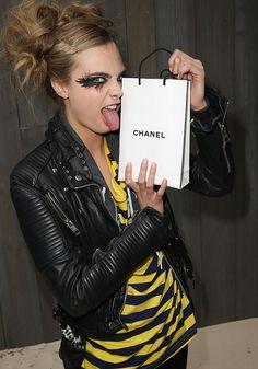 Model Cara Delevigne. Backstage Chanel Couture Spring Summer 2013