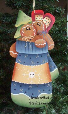 Gingerbread Mitten Ornament