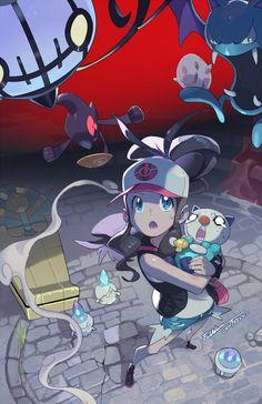 Pokémon, Pokémon Sword and Shield, Scorbunny / 冒険が始まった - pixiv Pokemon Mew, Pokemon Comics, Pokemon Fan Art, Touko Pokemon, Pokemon Noir, Ghost Pokemon, Black Pokemon, Pokemon Backgrounds, Pokemon Collection