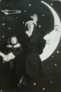 Early 1900's Paper Moon postcard....