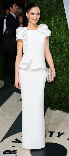 Georgina Chapman - fashion genius - in Marchesa!