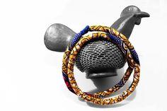 Collana Africana lunga - blu senape fucsia di SilmieCreations su DaWanda.com