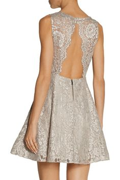 Taupe lace Button, hook and zip fastening at back 100% nylon; combo1: 100% polyester; combo2: 57% nylon, 43% polyester; lining: 97% polyester, 3% spandex Dry clean
