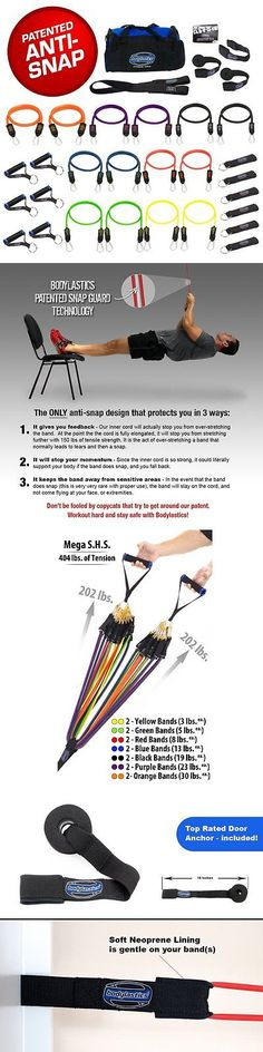 Resistance Trainers 79759: Super Heavy 31 Pcs Premium Resistance Bands Set By Bodylastics. Includes 14 Best -> BUY IT NOW ONLY: $154.39 on eBay!