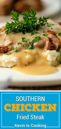 This recipe for chicken fried steak is easy to make and served with homemade gravy. Make this comfort meal for dinner or a hearty breakfast! Chicken Fried Steak Easy, Fried Chicken Gravy, Homemade Fried Chicken, Beef Recipes, Chicken Recipes, Cooking Recipes, Steak Breakfast, Dinner Ideas, Dinner Recipes