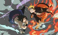 Final battle Sasuke Uchiha/ Naruto Uzumaki/