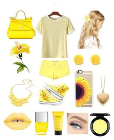 """""""Yellow💛"""" by brooklyn-adair-styles on Polyvore featuring Dolce&Gabbana, ASOS, Tractr, Casetify, Nails Inc., Marc Jacobs and MAC Cosmetics"""
