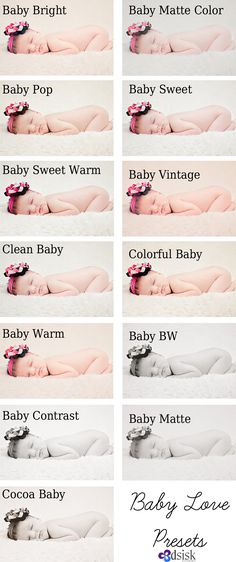 Beautiful newborn, beautiful Lightroom presets.