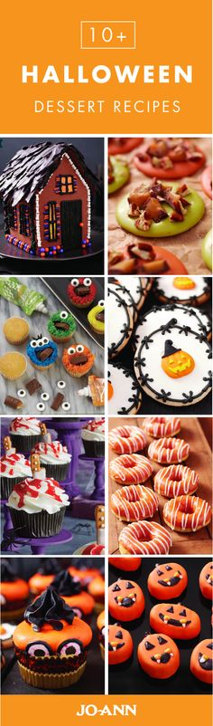 From spooky gingerbread houses and creative cupcakes to traditional pumpkin pies and delicious fall donuts, this collection of 10+ Halloween Dessert recipes from Jo-Ann has everything you need to serve up festive treats all season long!