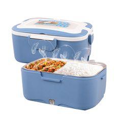 Chauffe plats portable boîte à lunch cuiseur à riz voyage Acier Inoxydable Pot Intérieur 12 V/24 V/220 V