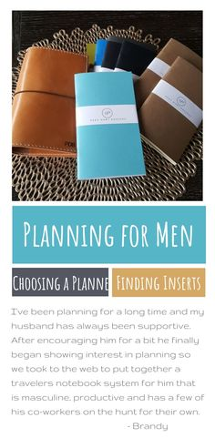My husband was really interested in my planning and how it changed my life - we finally got him set up with planning supplies for men and he loves it! Look here for mens planners How To Use Planner, Planner Tips, Planner Supplies, Life Planner, Happy Planner, Planners For Men, Best Planners, Planner Dividers, Planner Organization
