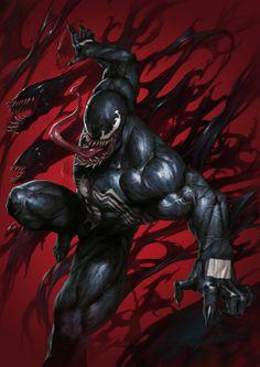 Venom #1 (2018) Supersonic Comics Exclusive Virgin Variant Cover by SKAN