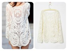 KCLOTH Women Lace Floral Tops Blouse T1365 Sheer Lace Tunic Tank Top Crochet Blouse Ivory Lace Blouse Victorian  Blouse Vintage Lace Blouse on Etsy, $17.99