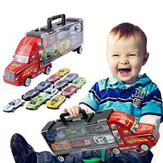 Features: Target For: Unisex kids. For ages 3 and up. 100% Quality Guarantee. Car Trucks: Sanitation trucks / Engineering rescue vehicle / Mixers truck. A wonderful plastic toy truck, specifically designed. -Suitable for Playing, Gift, Collection, Decoration etc. Package Including: 1 x Toy... more details available at https://perfect-gifts.bestselleroutlets.com/gifts-for-babies/toys-games-gifts-for-babies/product-review-for-toddlers-toy-hands-portable-car-container-truck-with