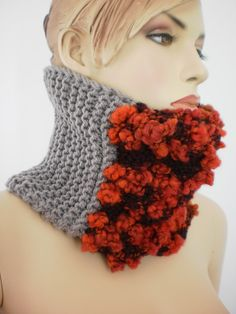 Fall Fashion  Hand Knit Cowl Scarf  Neck Warmer  por levintovich