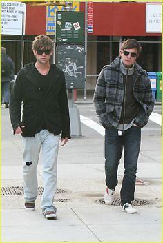 "Chace Crawford & Ed Westwick. Can't help but wonder if the song playing in both of their minds while strutting is ""Sexy and I know it""! :)"