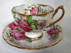 Japanese Fine China Fan Crest Cup & Saucer by LoblollyCove on Etsy, $24.00