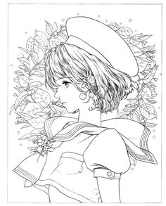 Instant Download! High quality images fit on A4 paper Over 200 printable coloring books available #coloringbook #coloring #portrait #mystica #koreacoloring #download #ebook #coloringpage People Coloring Pages, Fairy Coloring Pages, Princess Coloring Pages, Adult Coloring Book Pages, Colouring Pics, Coloring Books, Disney Drawings Sketches, Mini Drawings, Anime Art