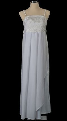 1970′s Floaty Wrap Vintage Wedding Dress