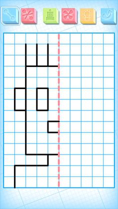 """FREE app May (reg -Grid Drawing for Kids: While playing copying the templates, your children will exercise their observation and their logical skills with the game modes """"copy"""", """"move"""" and """"symmetries"""" Fun Educational Games, Educational Technology, Vocational Tasks, Math Patterns, Teaching Schools, Pre Writing, Classroom Inspiration, Exercise For Kids, Drawing For Kids"""