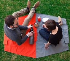 Fantastic  Picnic Bag by Yield Design Co. that converts to a full blanket