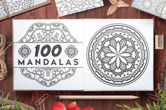 Mandala Flower, Abstract Flowers, Pencil Illustration, Graphic Illustration, Botanical Illustration, Doodle, Mandalas Painting, Creative Sketches, Paint Markers