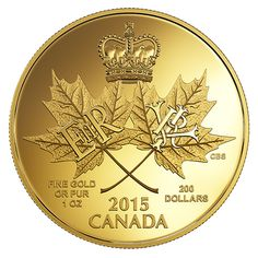 1 oz. Pure Gold Coin - A Historic Reign - Mintage: 300 (2015)