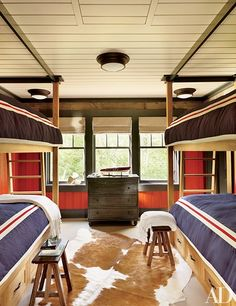 Sittig House - Former Wawbeek Resort on Upper Saranac Lake Tupper Lake, NY Interiors: Thom Filicia Architect: Arthur Hanlon, Shope Reno Wharton